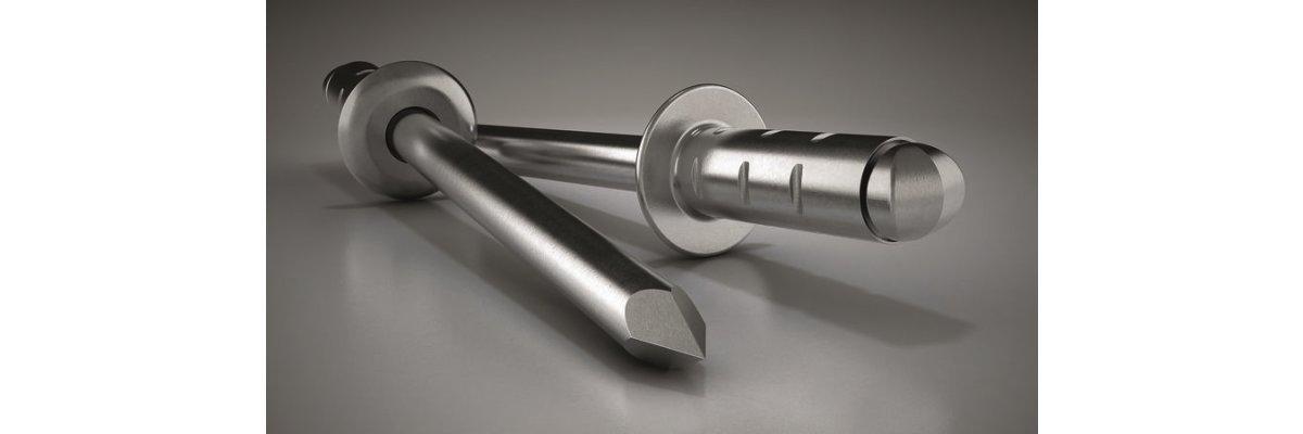 GESIPA® Mehrbereichs-Blindniete PolyGrip® - Top Grip>PolyGrip® Mehrbereichs Blindniet>ein Niet für große Vielfalt>in verschiedenen Werkstoffen