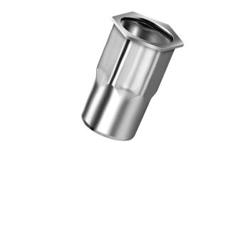 Blindnietmutter Edelstahl A2  M10  Kleiner Senkkopf Teilsechskant offern|1,0-4,0mm