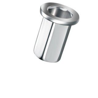 Blindnietmutter Edelstahl A2  M4  Flachrundkopf Vollsechskant  offen|0,5-3,0mm