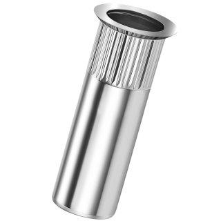 Blindnietmutter Stahl  M10  Senkkopf Rundschaft  geschlossen rilliert|1,5-4,5mm