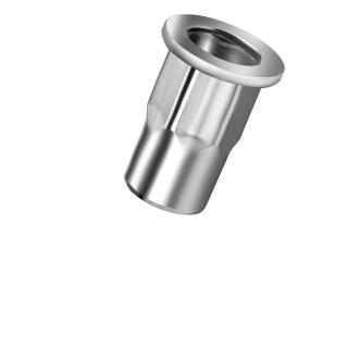 Blindnietmutter Stahl  M4  Flachrundkopf Teilsechskant  offen|0,5-3,0mm