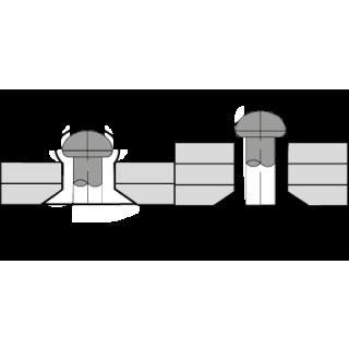 Standard Blindniet Stahl/Stahl SK 4,8 X 22|13,0-17,0mm