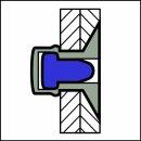 Sealed Dicht-/Becherniet Alu/Alu SK 4,8 X 15,5 9,0-10,5mm