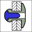 Standard Blindniet Alu/Stahl EGK 5,0 X 24 X 16 17,0-19,0mm