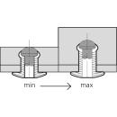 Grooved  rillierte Blindniet Alu/Stahl FK 4,8 X 08 max,4mm