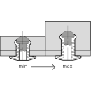Grooved  rillierte Blindniet Alu/Stahl FK 4,8 X 20|max,16mm