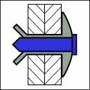 Hammerdrive Hammerschlagniet Alu/Edelstahl EGK 4,8 X 11 X...