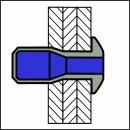 M-Power Hochfeste Struktur Blindniet Alu/Alu FK 6,4 X 14,5|2,0-9,5mm