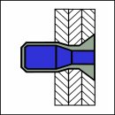 M-Power Hochfeste Struktur Blindniet Alu/Alu SK 4,8 X 12|3,2-8,4mm