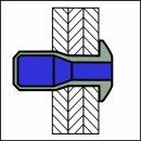 M-Power Hochfeste Struktur Blindniet Stahl/Stahl FK 6,4 X 19,5 2,0-15,9mm