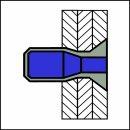 M-Power Hochfeste Struktur Blindniet Edelstahl A2/A2 SK 4,8 X 12|3,2-8,4mm