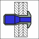 P-Power Hochfeste Struktur Blindniet Alu/Alu FK 6,4 X 20|2,0-16,0mm
