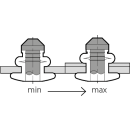 A-Power Hochfeste Struktur Blindniet Stahl/Stahl FK 4,8 X 9,5|1,5-3,5mm