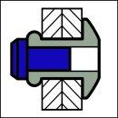 A-Power Hochfeste Struktur Blindniet Edelstahl A2 / Edelstahl A2 FK 3,2 X 11|5,0-7,0mm