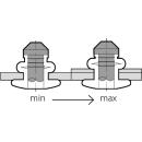 A-Power Hochfeste Struktur Blindniet Edelstahl A2 / Edelstahl A2 FK 4,0 X 08 1,0-3,0mm