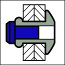 H-Power Hochfeste Struktur Blindniet Stahl/Stahl FK 4,8 X 9| 1,5-3,5mm