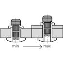 H-Power Hochfeste Struktur Blindniet Stahl/Stahl FK 4,8 X 16,5| 8,5-11,0mm