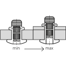 H-Power Hochfeste Struktur Blindniet Stahl/Stahl FK 6,4 X 15,5 7,5-9,5mm