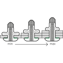 Split Power Presslaschen-Blindniet  Neopren Dichtscheibe Alu/Alu FK 5,2 X 31,8|14,3-19,1mm