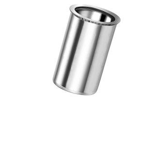 Blindnietmutter Edelstahl A4   M5  Kleiner Senkkopf Rundschaft  offen glatt|0,5-3,0mm